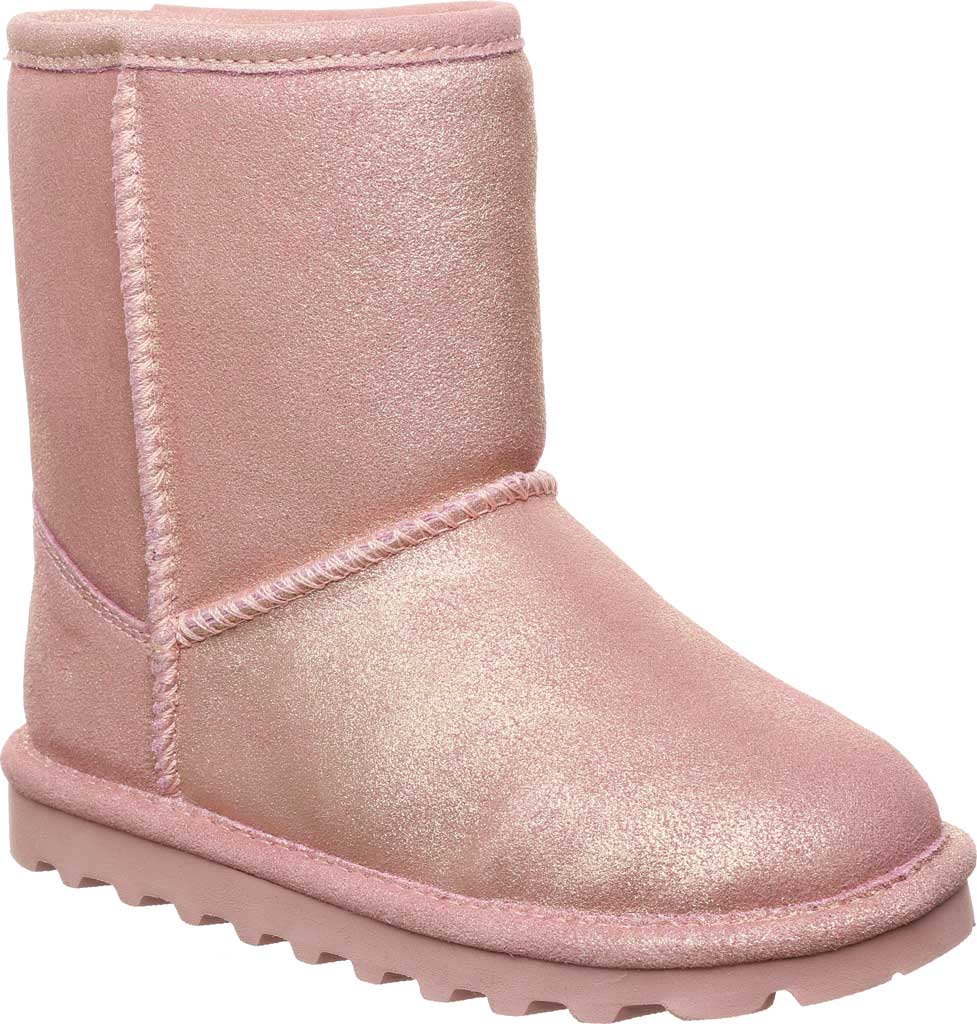 Infant Girls' Bearpaw Elle Toddler Zipper Boot, Pink Glitter Suede, large, image 1