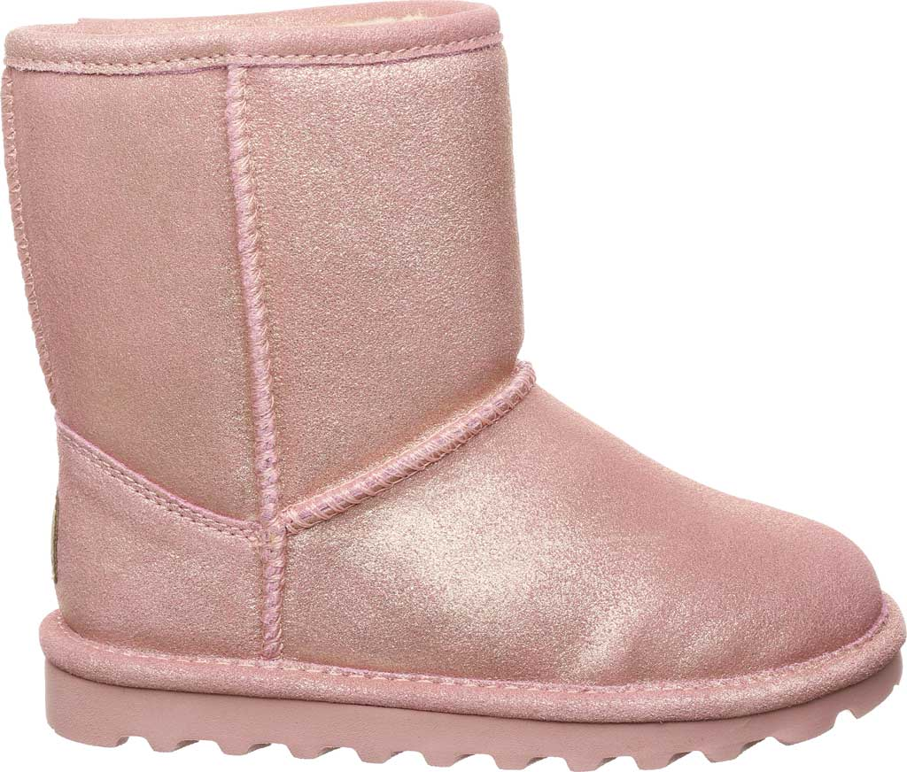 Infant Girls' Bearpaw Elle Toddler Zipper Boot, Pink Glitter Suede, large, image 2