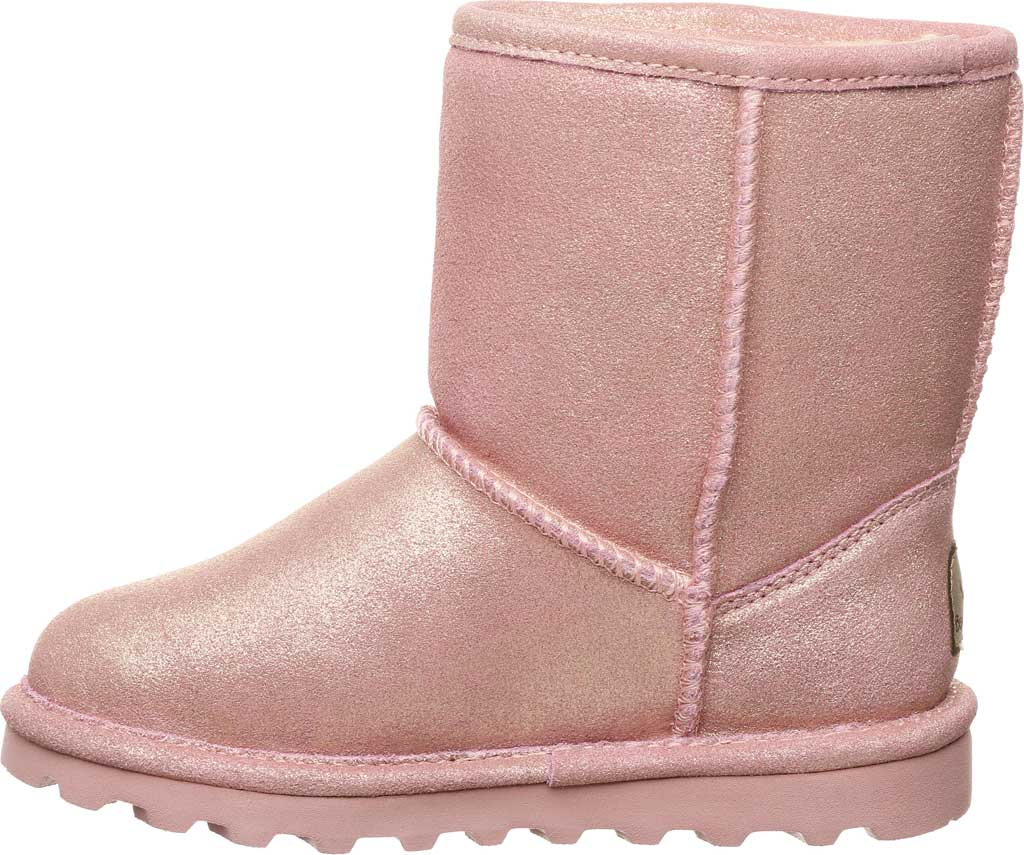 Infant Girls' Bearpaw Elle Toddler Zipper Boot, Pink Glitter Suede, large, image 3