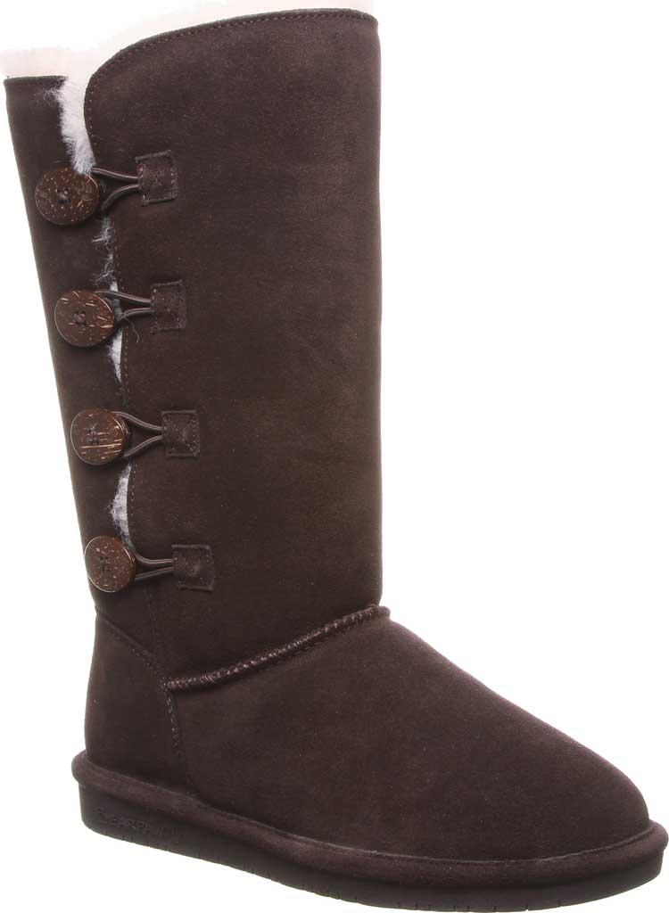 Women's Bearpaw Lori Boot, Chocolate Suede, large, image 1