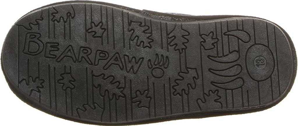 Girls' Bearpaw Boshie Youth Boot, Black Neverwet Suede/Knit, large, image 4