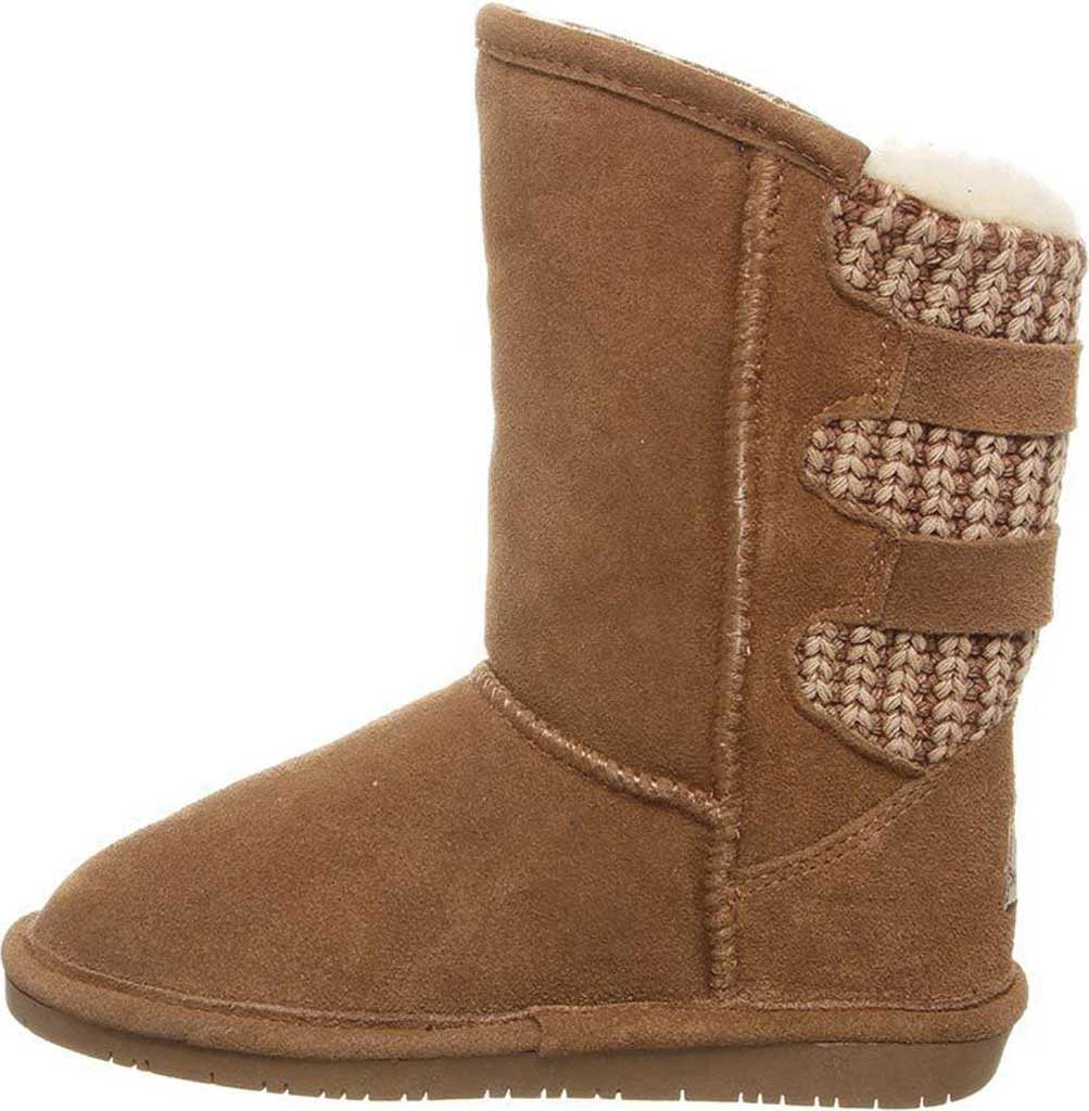 Girls' Bearpaw Boshie Youth Boot, Hickory Neverwet Suede/Knit, large, image 3