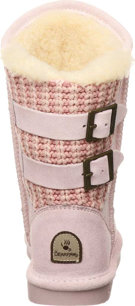 Girls' Bearpaw Boshie Youth Boot, Pale Pink Suede/Knit, large, image 4