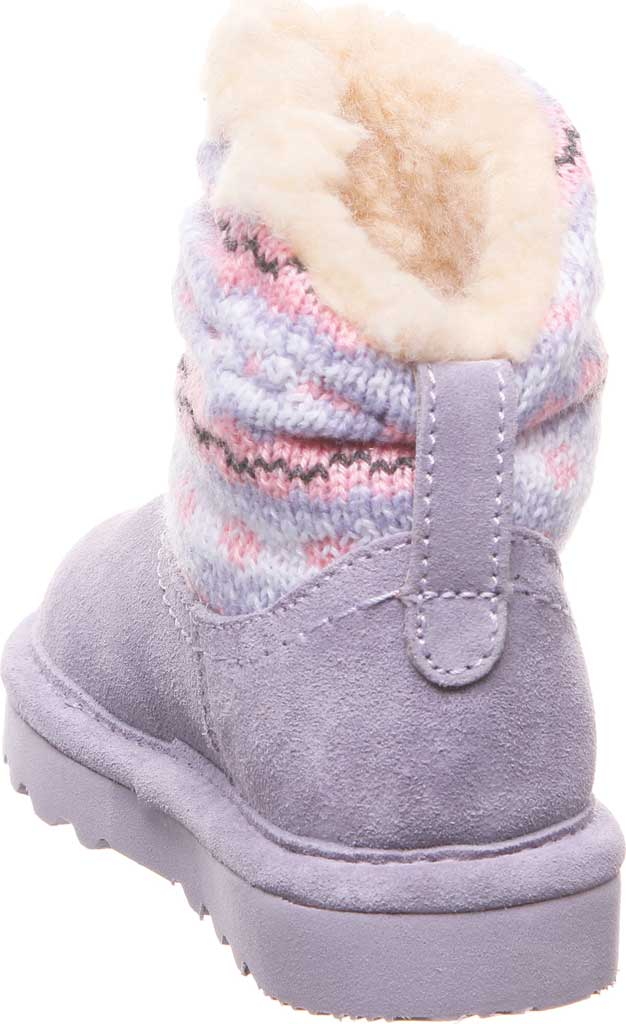 Infant Girls' Bearpaw Virginia Bootie, Wisteria Suede/Knit, large, image 4