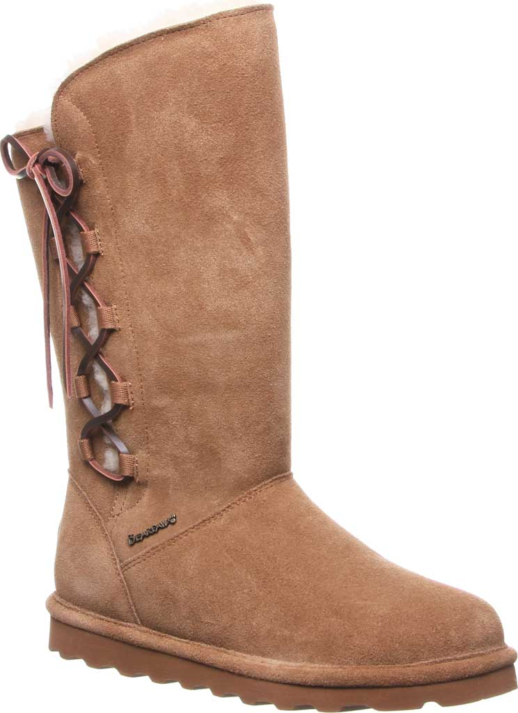 Women's Bearpaw Rita Wide Boot, Hickory II Suede, large, image 1