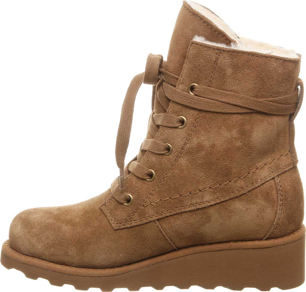 Girls' Bearpaw Krista Lace Up Bootie Youth, Hickory II Suede, large, image 3