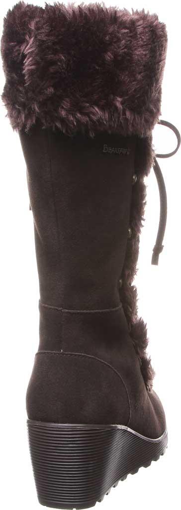 Women's Bearpaw Minka Tall Boot, Chocolate Suede/Faux Fur, large, image 4