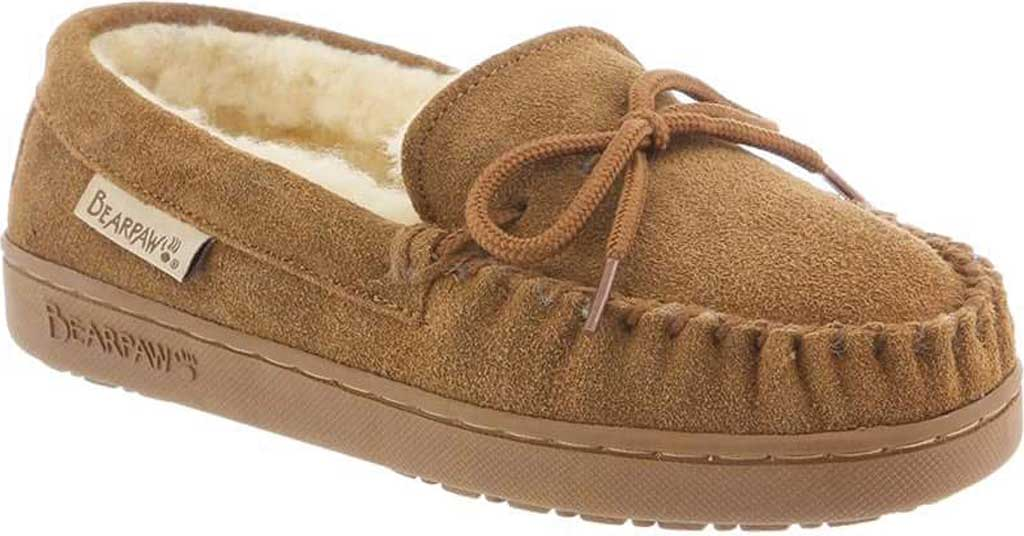 Children's Bearpaw Moc II Slipper Youth, Hickory II Suede, large, image 1