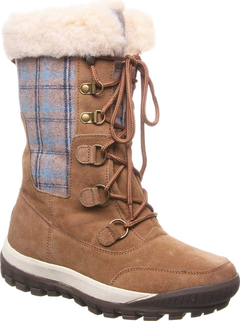 Women's Bearpaw Lotus Mid Calf Boot, Hickory II Suede/Textile, large, image 1