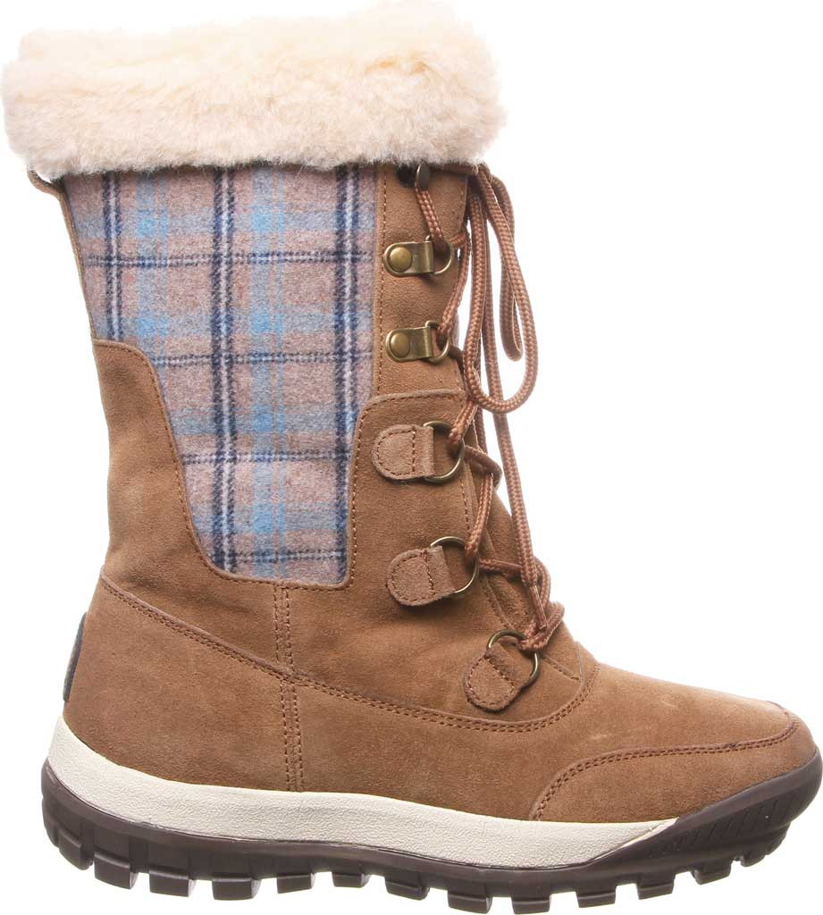 Women's Bearpaw Lotus Mid Calf Boot, Hickory II Suede/Textile, large, image 2