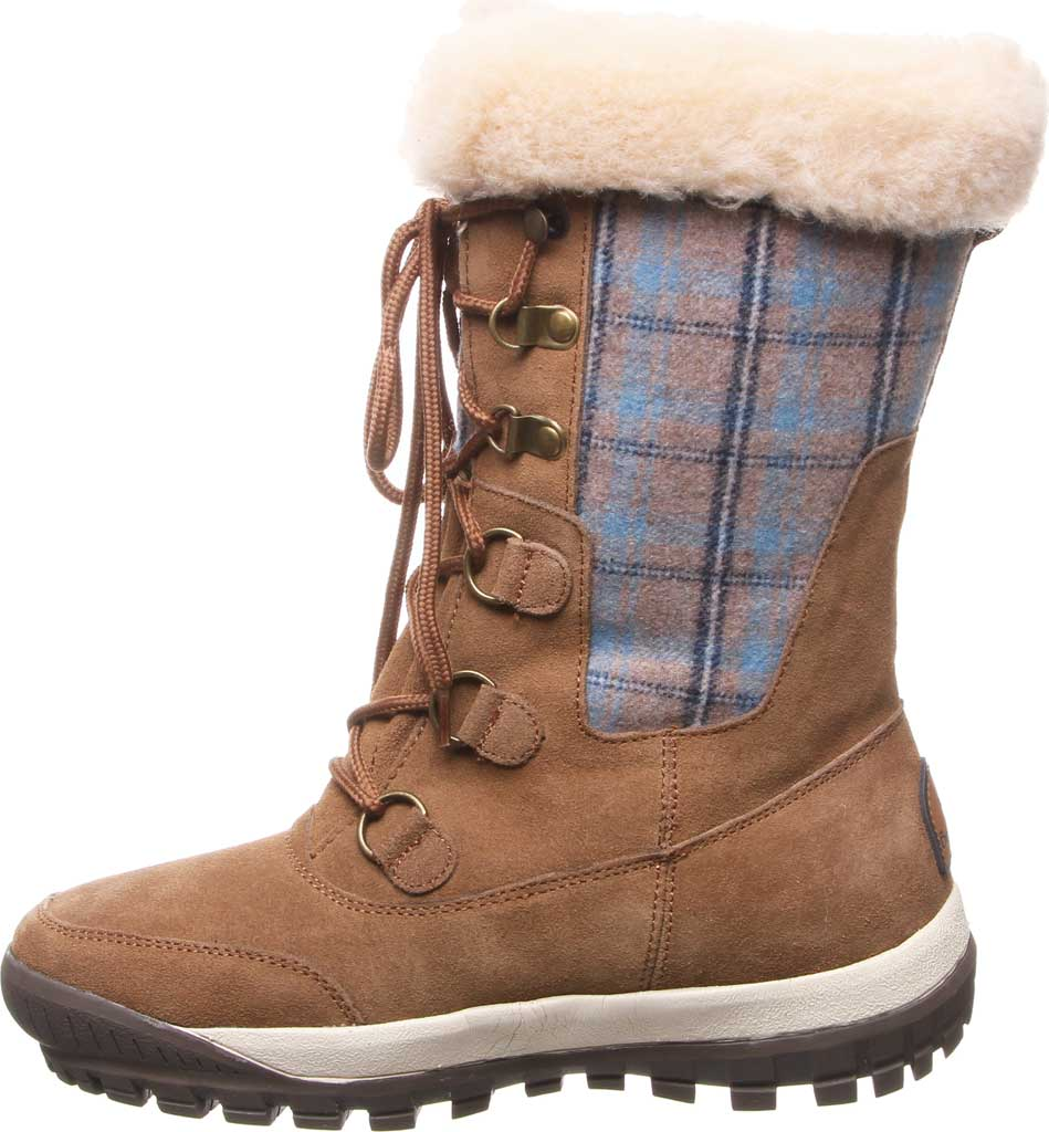 Women's Bearpaw Lotus Mid Calf Boot, Hickory II Suede/Textile, large, image 3