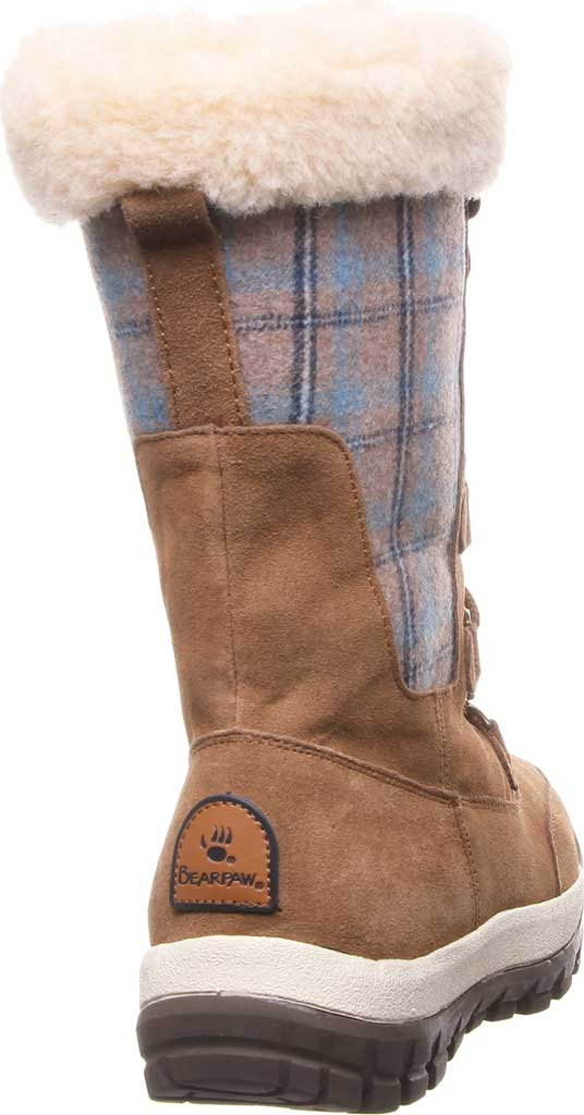 Women's Bearpaw Lotus Mid Calf Boot, Hickory II Suede/Textile, large, image 4