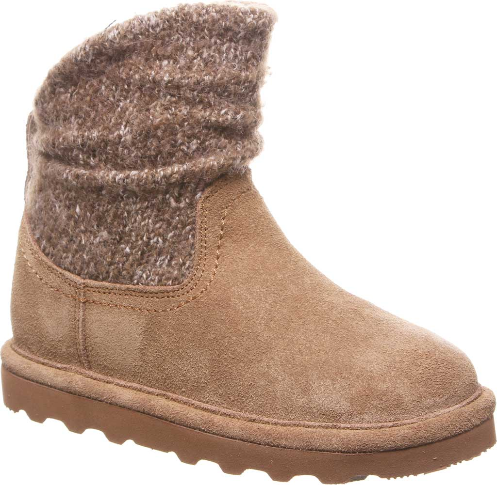 Girls' Bearpaw Virginia Bootie Youth, Hickory II Suede, large, image 1