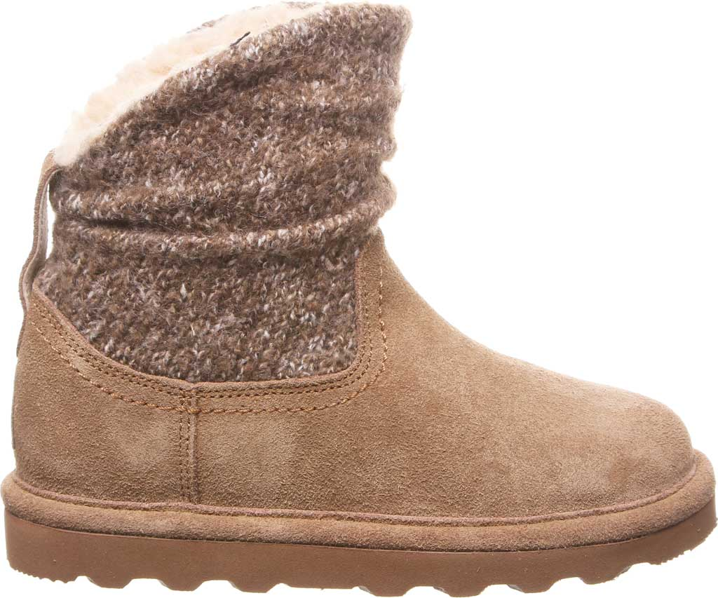 Girls' Bearpaw Virginia Bootie Youth, Hickory II Suede, large, image 2