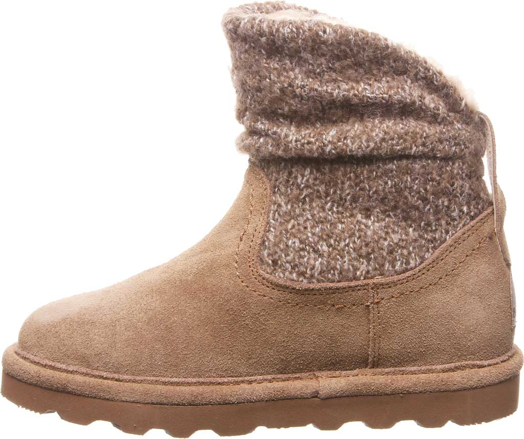 Girls' Bearpaw Virginia Bootie Youth, Hickory II Suede, large, image 3