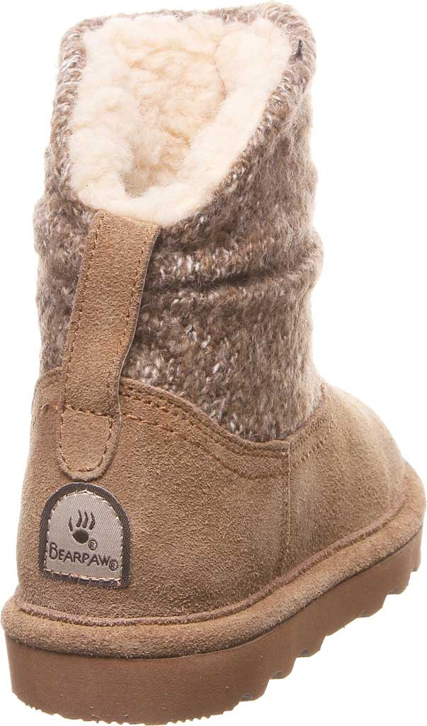 Girls' Bearpaw Virginia Bootie Youth, Hickory II Suede, large, image 4