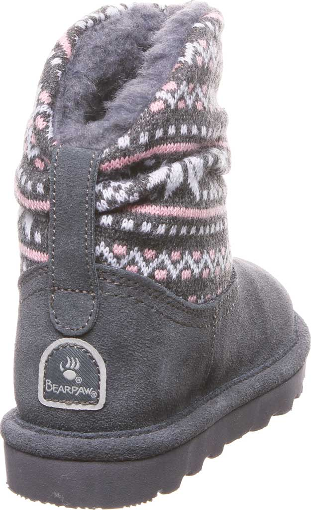 Girls' Bearpaw Virginia Bootie Youth, Charcoal Suede, large, image 4