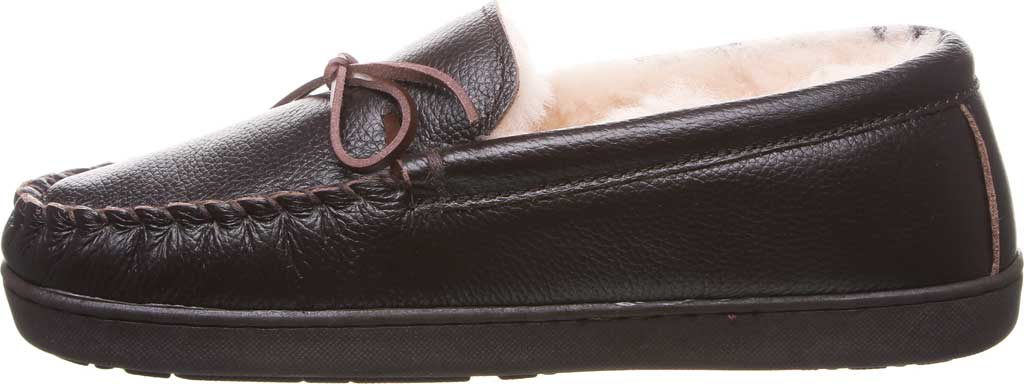 Men's Bearpaw Mach IV Wide Moccasin Slipper, Chocolate Full Grain Leather, large, image 3