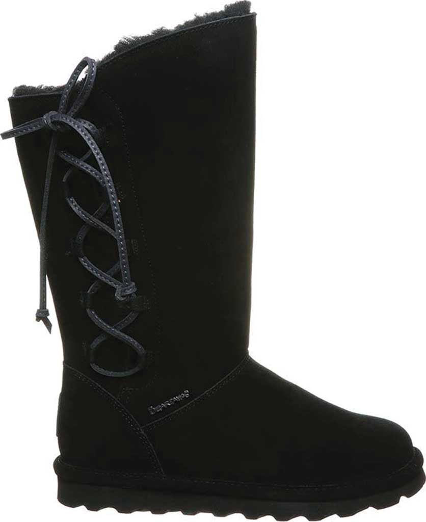 Women's Bearpaw Rita Sheepskin Tall Boot, Black II Suede, large, image 2
