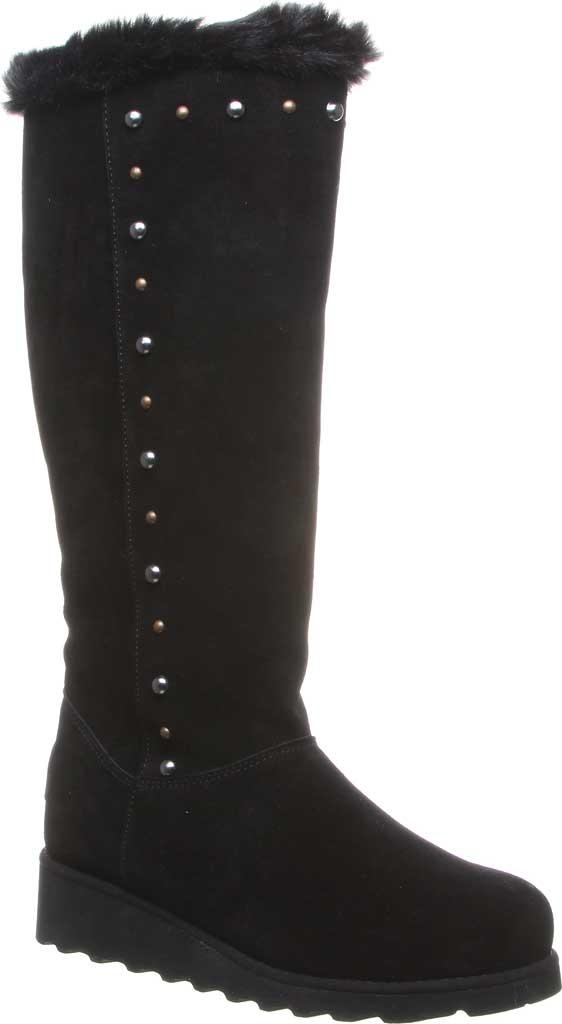 Women's Bearpaw Dorothy Knee High Boot, Black II Suede/Faux Fur, large, image 1