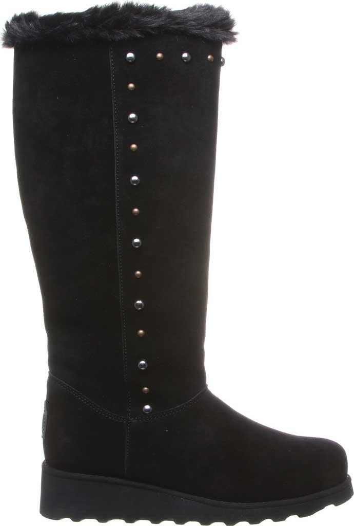 Women's Bearpaw Dorothy Knee High Boot, Black II Suede/Faux Fur, large, image 2