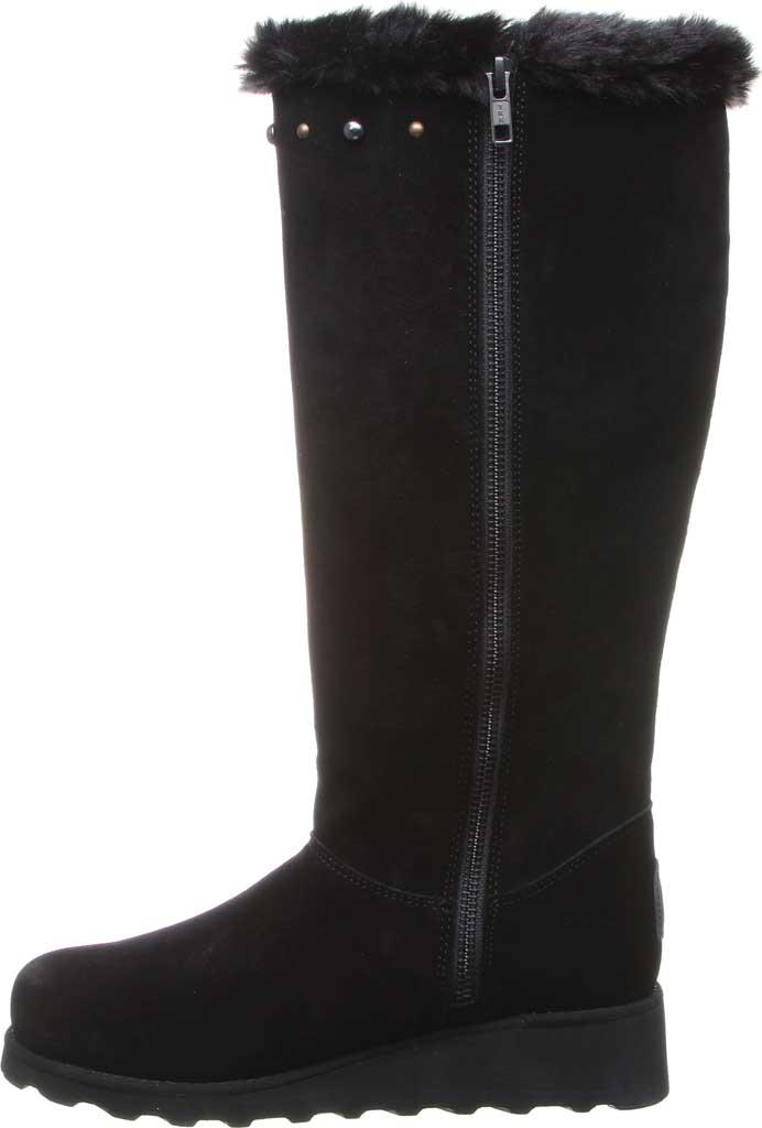 Women's Bearpaw Dorothy Knee High Boot, Black II Suede/Faux Fur, large, image 3
