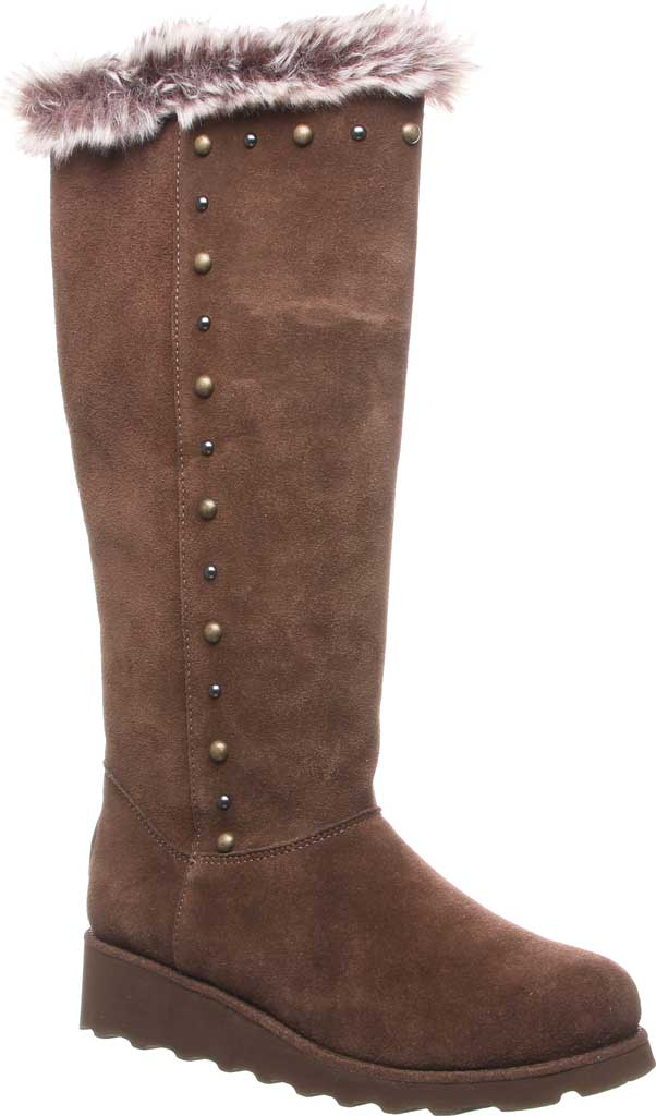 Women's Bearpaw Dorothy Knee High Boot, Earth Suede/Faux Fur, large, image 1