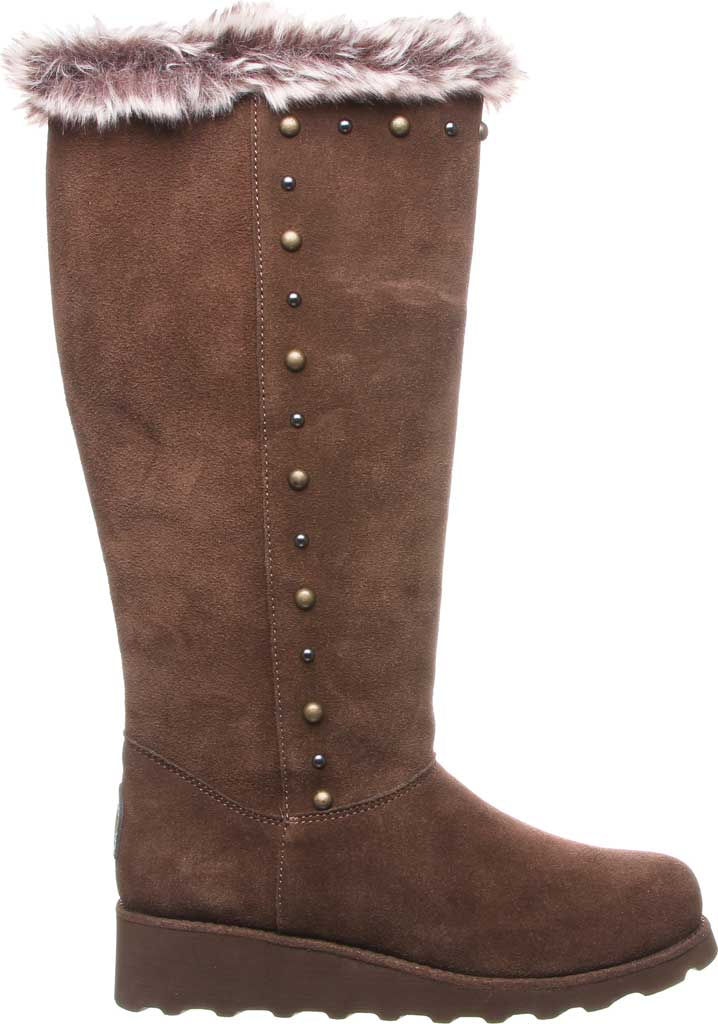 Women's Bearpaw Dorothy Knee High Boot, Earth Suede/Faux Fur, large, image 2