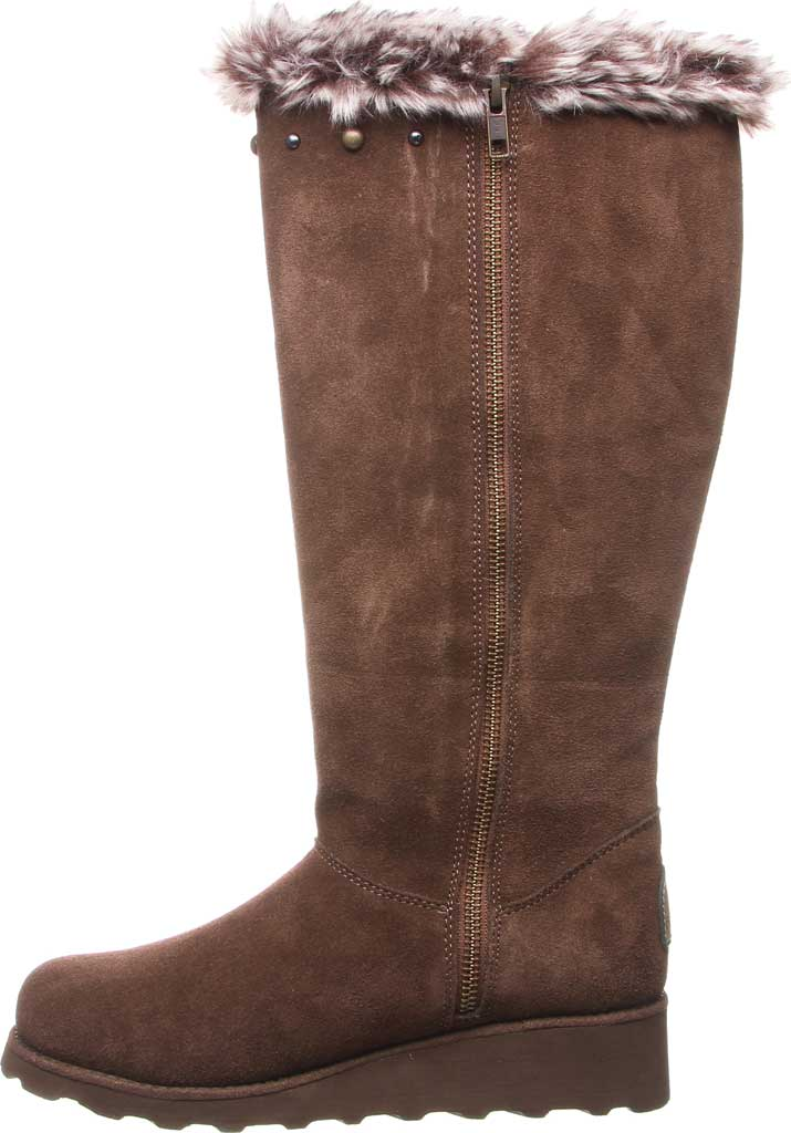 Women's Bearpaw Dorothy Knee High Boot, Earth Suede/Faux Fur, large, image 3