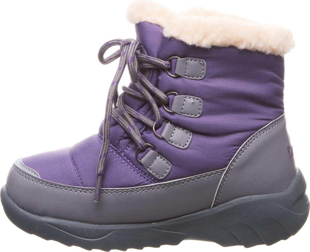 Children's Bearpaw Tundra Bootie, Purple Nylon/Polyurethane, large, image 3