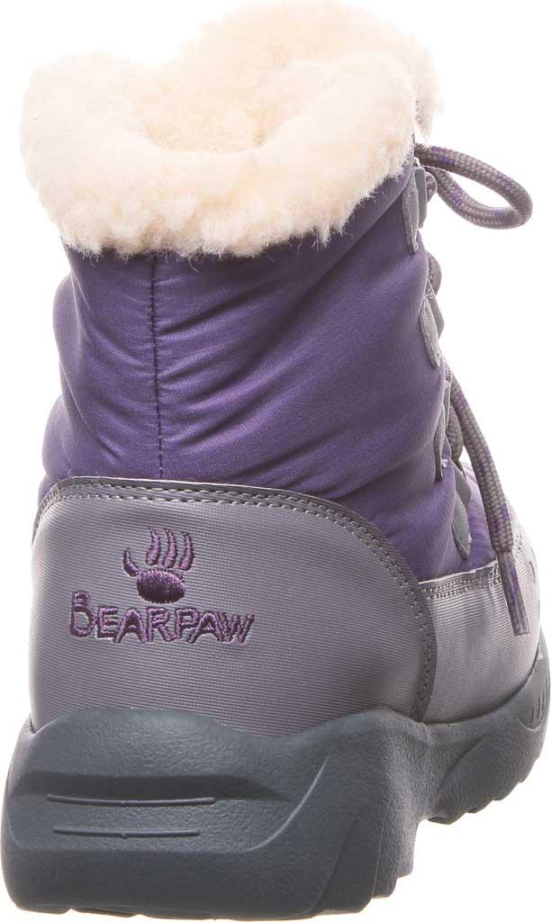 Children's Bearpaw Tundra Bootie, Purple Nylon/Polyurethane, large, image 4