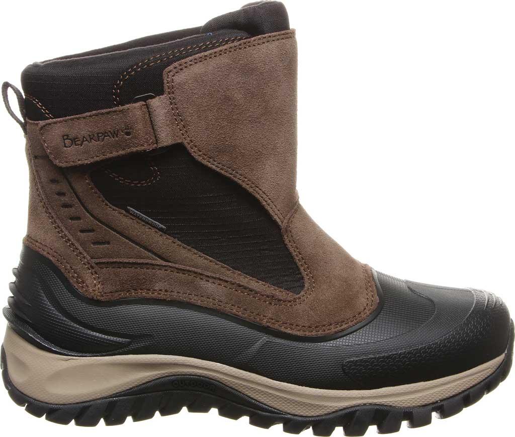 Men's Bearpaw Overland Waterproof Boot, Chocolate Suede/Nylon, large, image 2