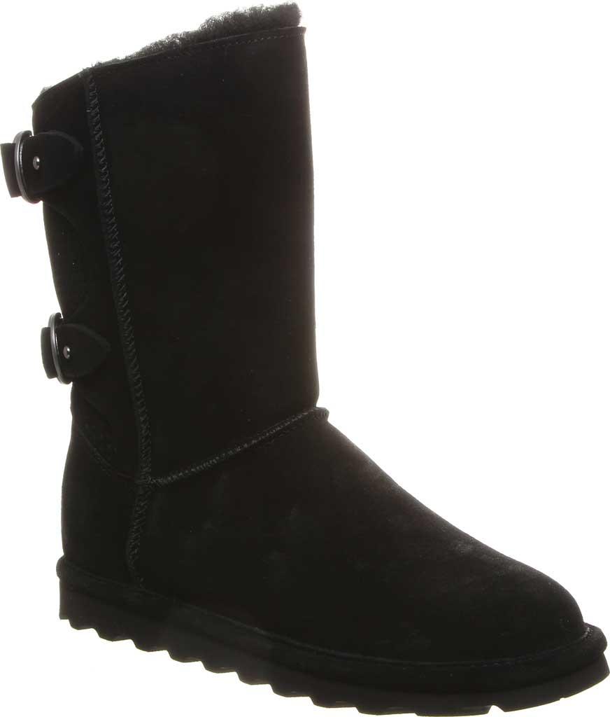 Women's Bearpaw Clara Wide Mid Calf Boot, Black II Suede, large, image 1