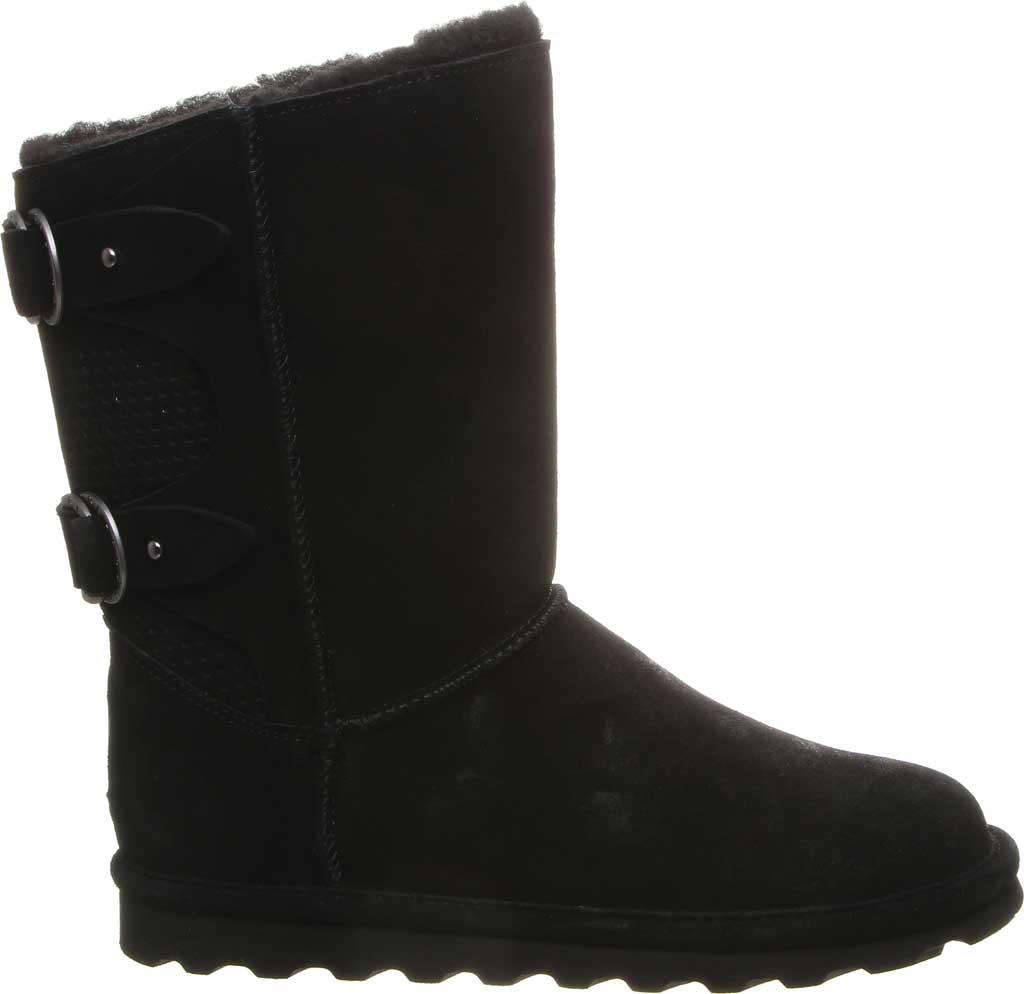 Women's Bearpaw Clara Wide Mid Calf Boot, Black II Suede, large, image 2