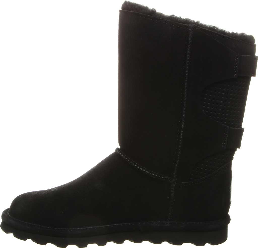 Women's Bearpaw Clara Wide Mid Calf Boot, Black II Suede, large, image 3