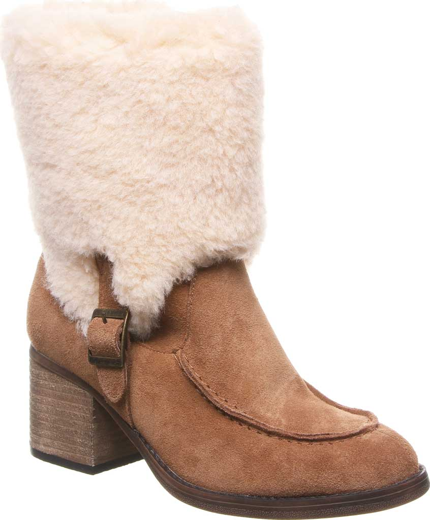 Women's Bearpaw Obsidian Mid Calf Fur Boot, Hickory II Suede, large, image 1