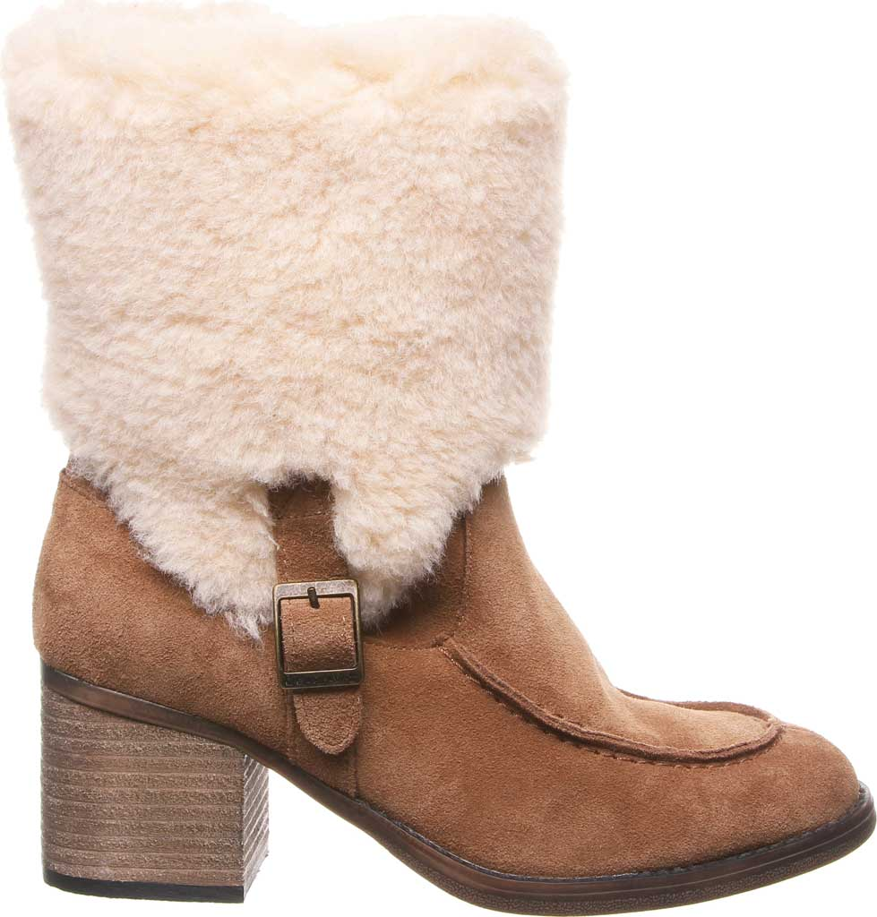 Women's Bearpaw Obsidian Mid Calf Fur Boot, Hickory II Suede, large, image 2