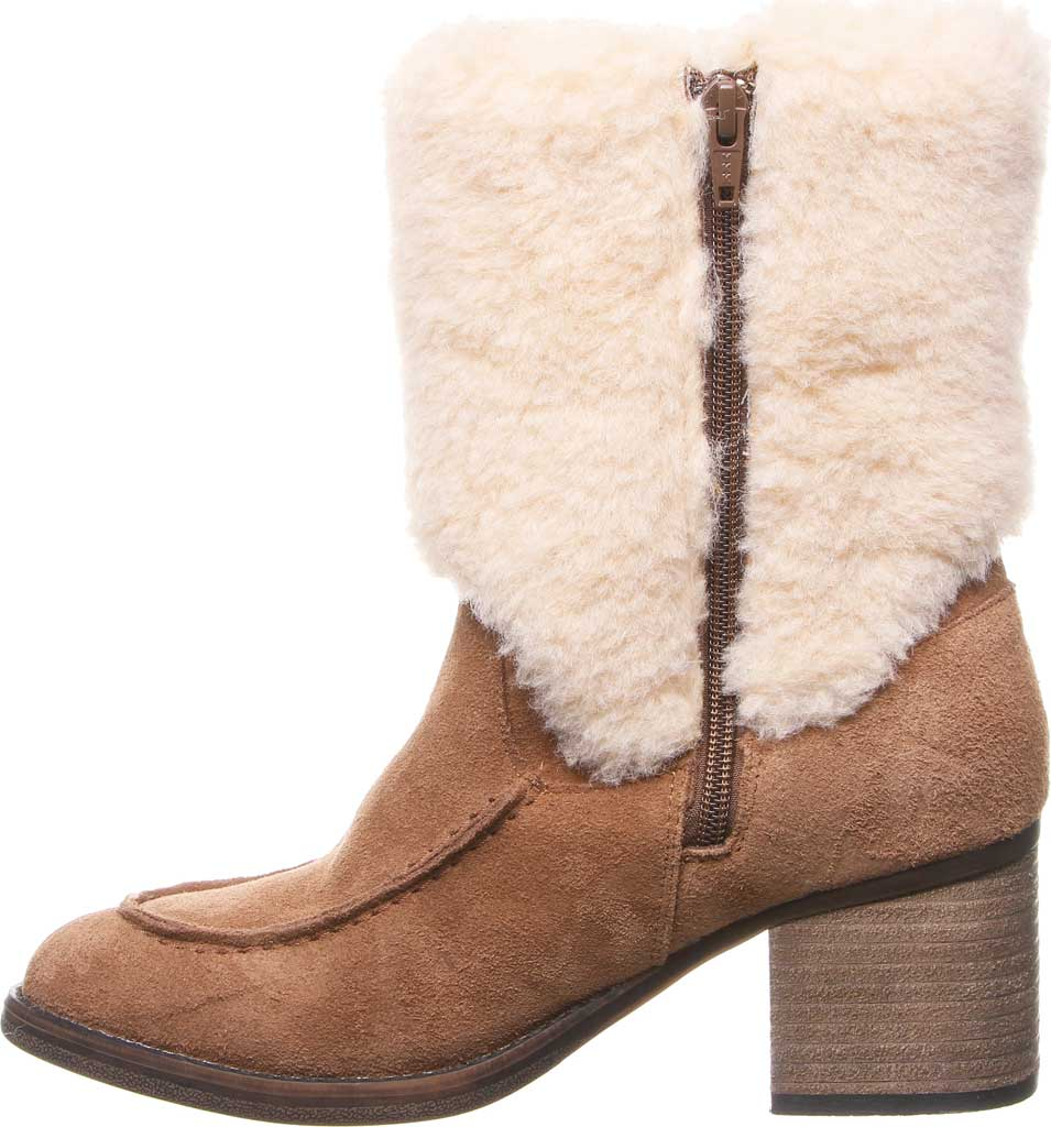Women's Bearpaw Obsidian Mid Calf Fur Boot, Hickory II Suede, large, image 3