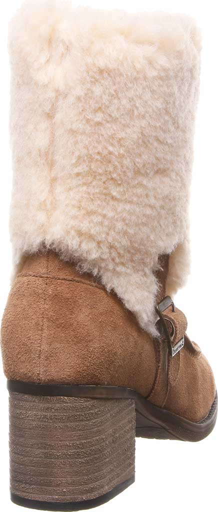 Women's Bearpaw Obsidian Mid Calf Fur Boot, Hickory II Suede, large, image 4