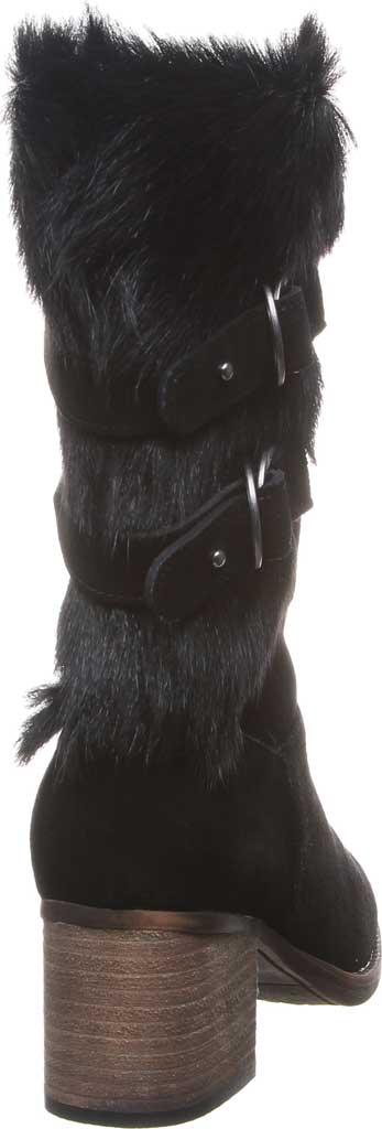 Women's Bearpaw Madeline Mid Calf Boot, Black II Suede/Goat Fur, large, image 4