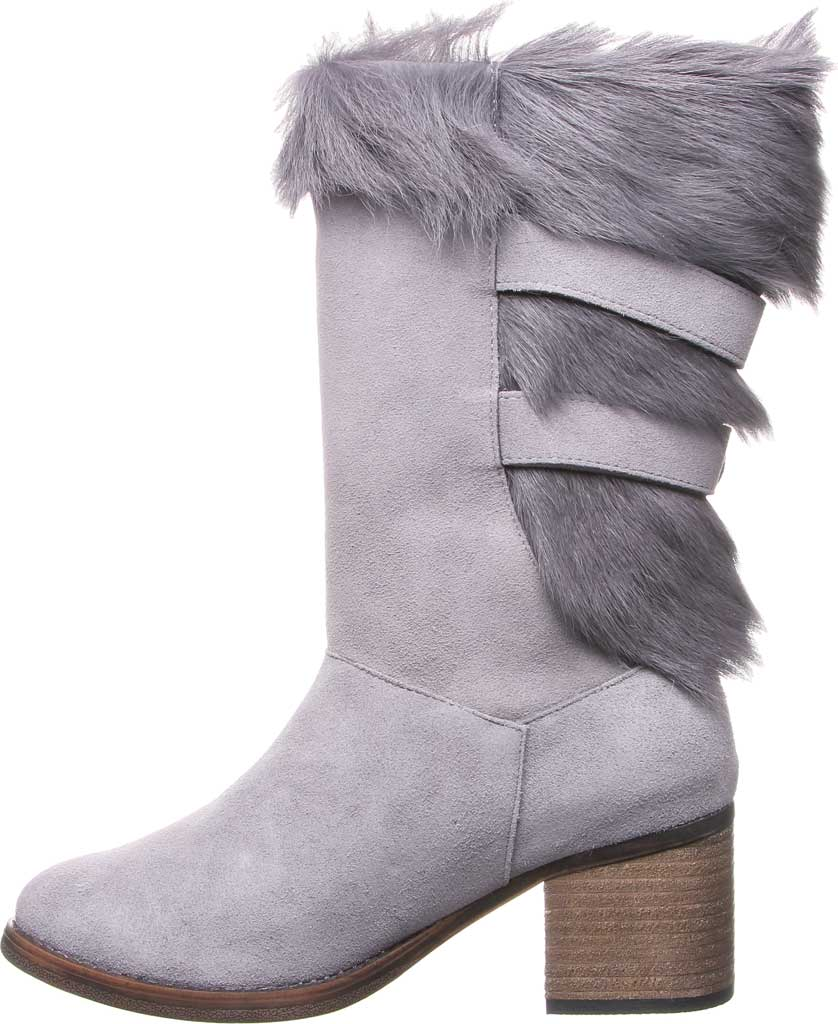 Women's Bearpaw Madeline Mid Calf Boot, Gray Fog Suede/Goat Fur, large, image 3
