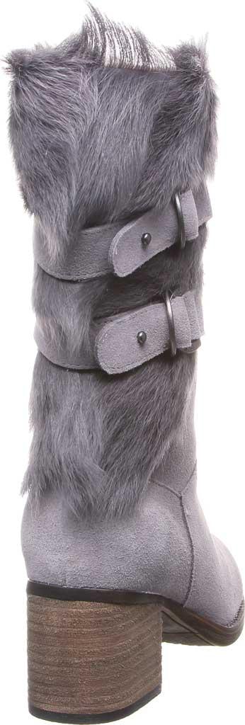 Women's Bearpaw Madeline Mid Calf Boot, Gray Fog Suede/Goat Fur, large, image 4