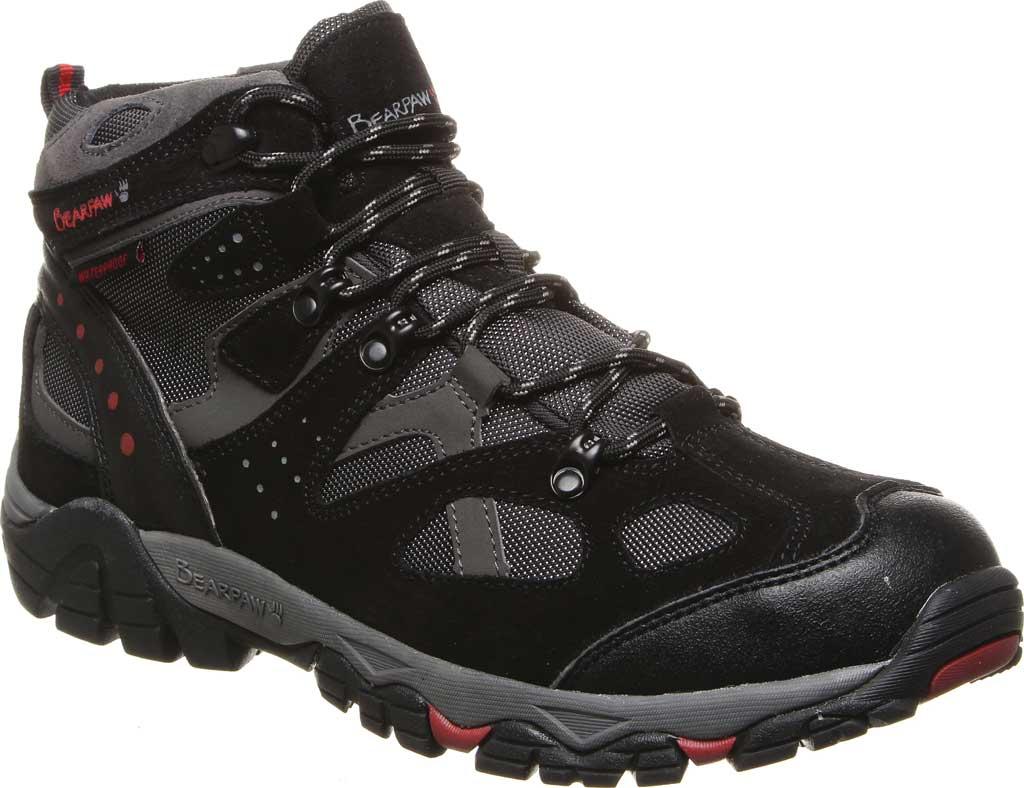 Men's Bearpaw Brock Wide Hiking Boot, Black/Grey Suede/Mesh, large, image 1