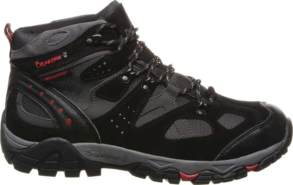 Men's Bearpaw Brock Wide Hiking Boot, Black/Grey Suede/Mesh, large, image 2