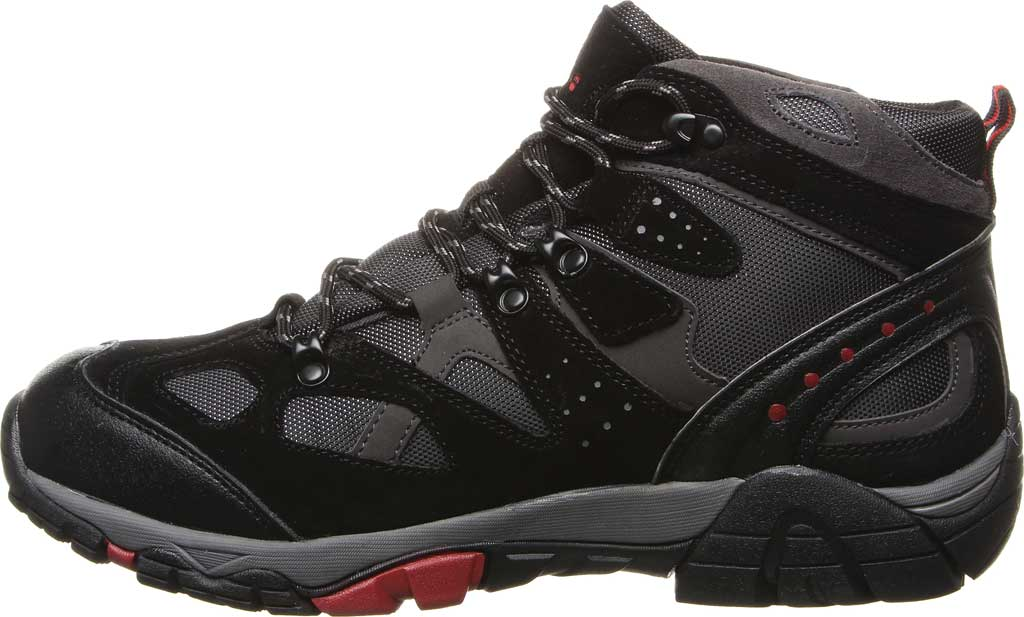 Men's Bearpaw Brock Wide Hiking Boot, Black/Grey Suede/Mesh, large, image 3