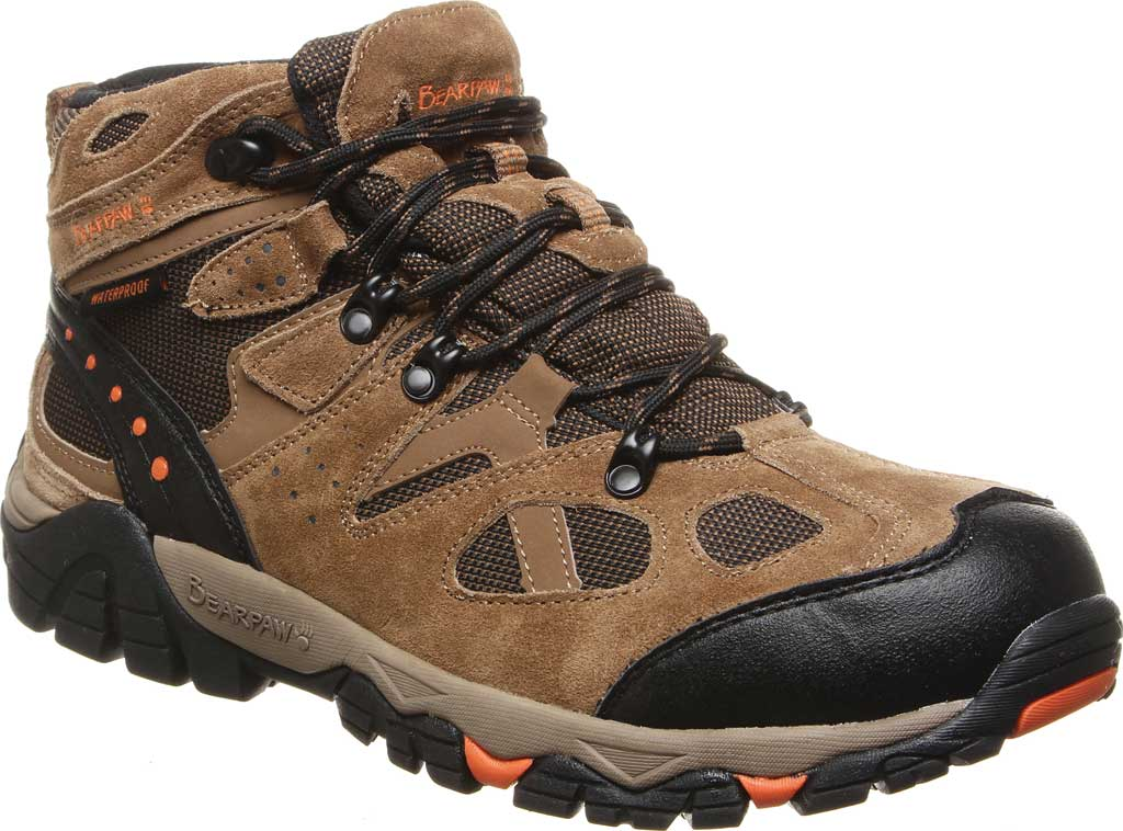 Men's Bearpaw Brock Wide Hiking Boot, Hickory II Suede/Mesh, large, image 1