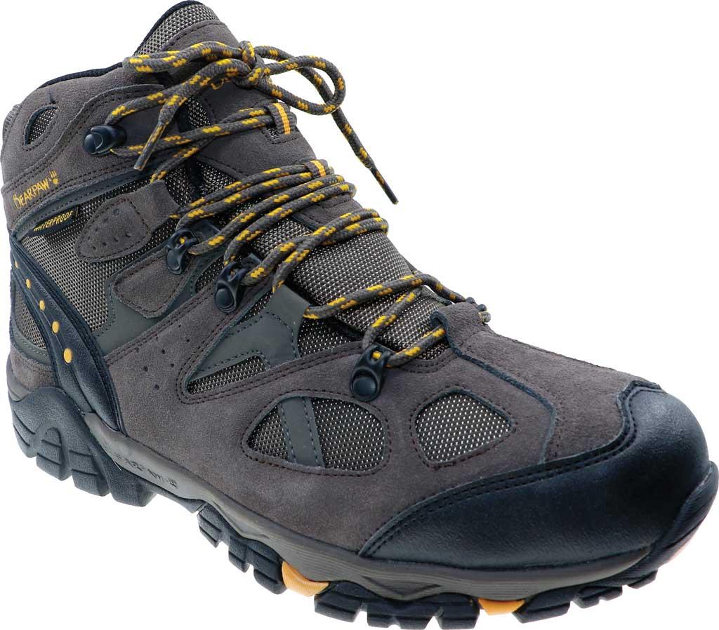 Men's Bearpaw Brock Wide Hiking Boot, Taupe Suede/Mesh, large, image 1