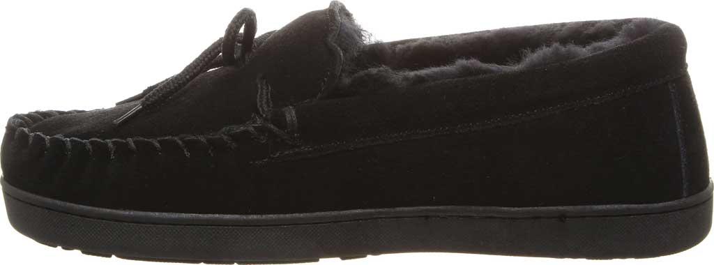 Men's Bearpaw Moc II Wide Slipper, Black Suede/Wool Blend, large, image 3