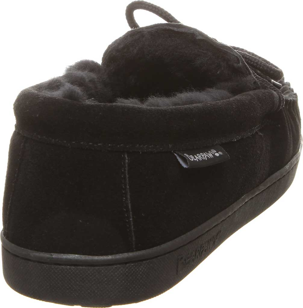 Men's Bearpaw Moc II Wide Slipper, Black Suede/Wool Blend, large, image 4