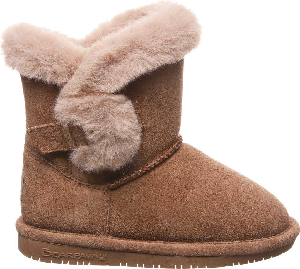 Girls' Bearpaw Betsey Pull On Boot Youth, Hickory II Suede, large, image 2